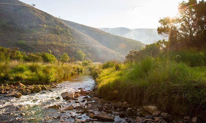 river meander rocks